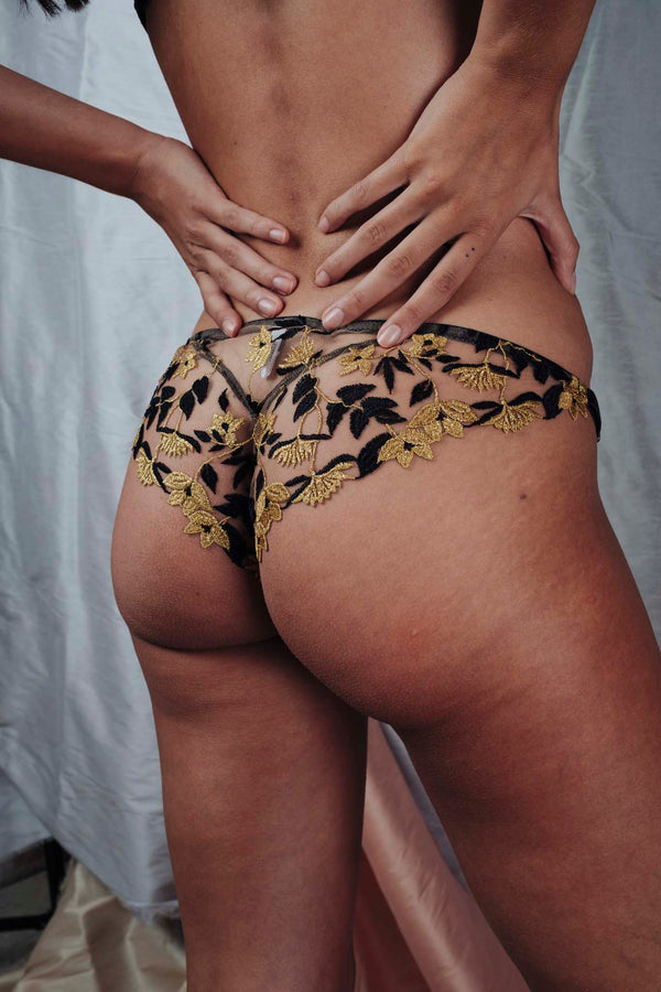 Studio Pia // Soraya Jet Embroidered Brief - Studio asanawa