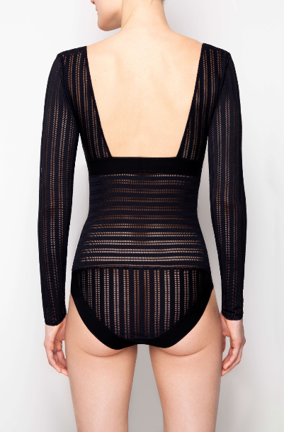 Opaak // Ewa Long Sleeved Body Black - Studio asanawa