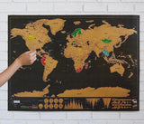 Deluxe Scratch-Off World Map - Wondearthful