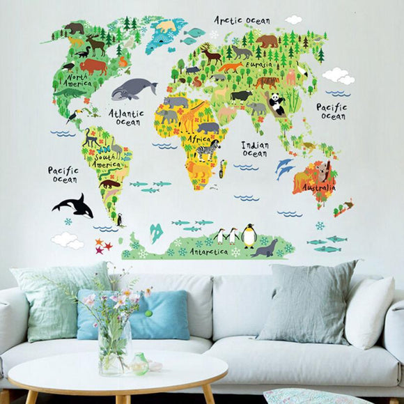 Animal Map Of The World - Wondearthful
