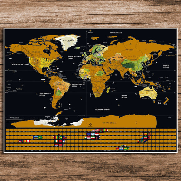 Scratch-Off World Map - Wondearthful
