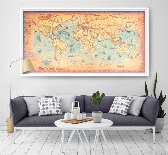 Vintage Map Of The World - Wondearthful