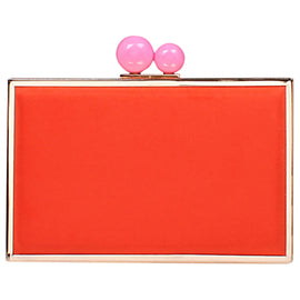 Carvela Glady Box Clutch Bag- Red