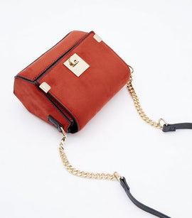 Rust Micro Cross Body Box Bag New Look
