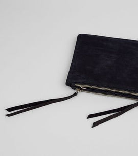 Black Suede Cross Body Bag New Look