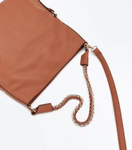 Tan Textured Oversized Shoulder Bag New Look