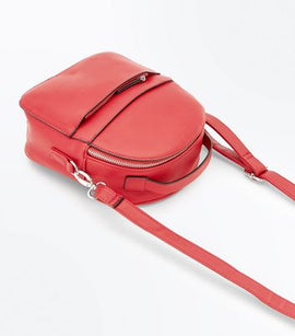 Red Double Zip Front Micro Backpack New Look