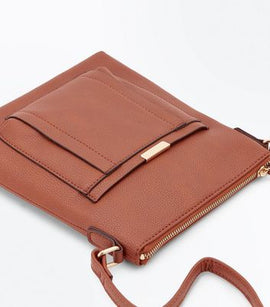 Tan Pocket Front Shoulder Bag New Look