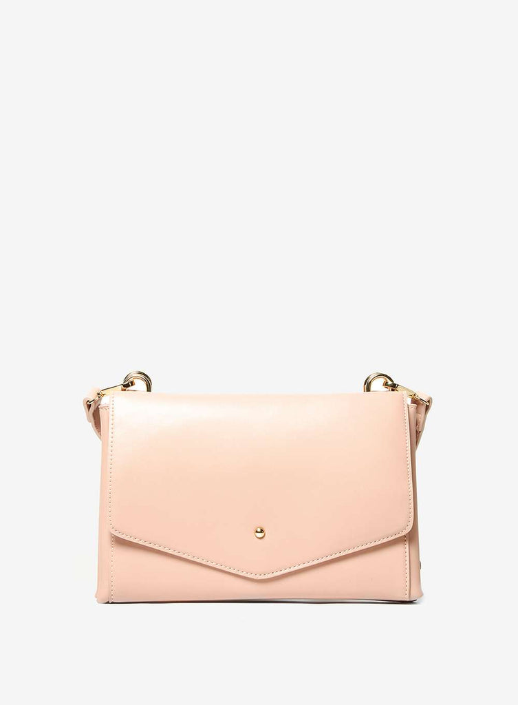 Womens Rose Double Pouch Cross Body Bag- Pink