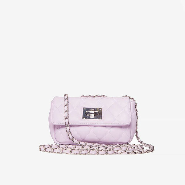 Womens Lilac Chain Shoulder Bag- Purple
