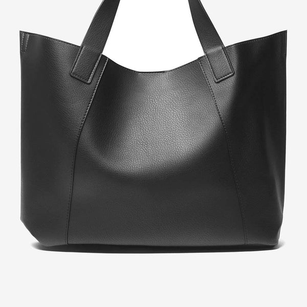 Womens Black and Grey Shopper Bag- Black/Grey
