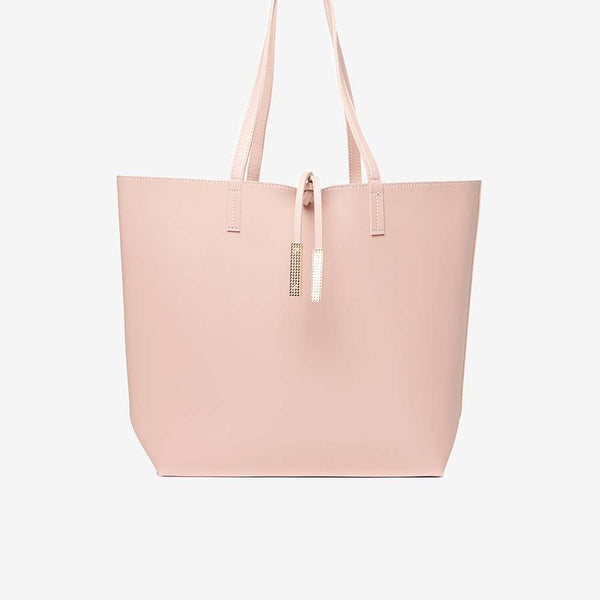 Womens Blush Shopper Bag- Pink