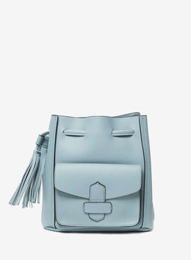 Womens Pale Blue Duffle Cross Body Bag- Blue