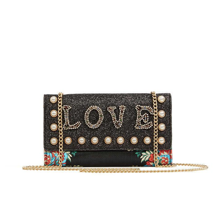 Aldo Legogne Cross-Body Bag- Black Multi