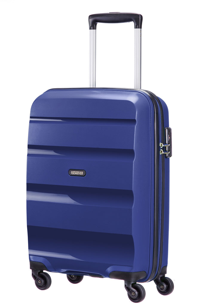 American Tourister Bon Air Navy  4 Wheel Hard Medium Case- Blue