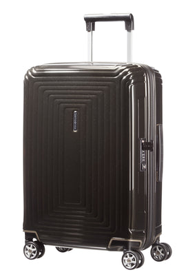 Samsonite Neo pulse metallic black 4 wheel 55cm cabin case- Black