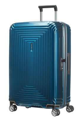 Samsonite Neo pulse metallic blue 4 wheel cabin suitcase- Blue
