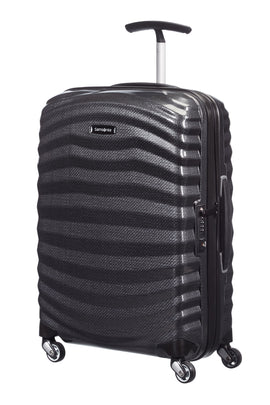 Samsonite Lite-Shock black 4 wheel 55cm cabin suitcase- Black