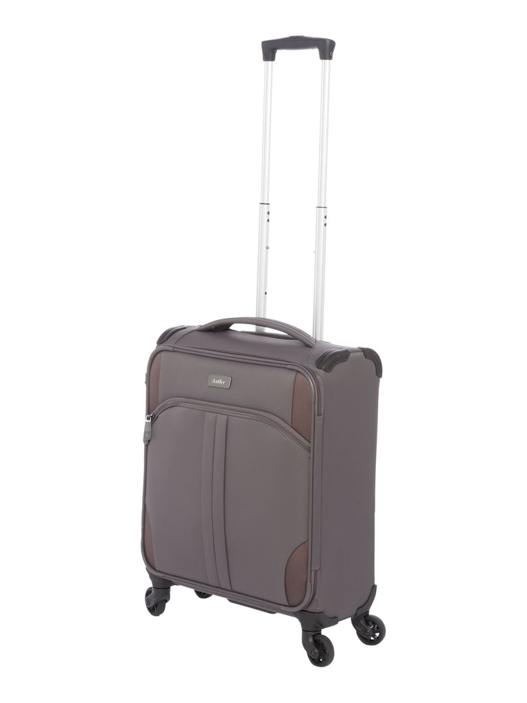 Antler Aire charcoal 4 wheel soft cabin suitcase- Charcoal