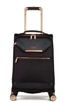 Ted Baker Ladies albany black 4 wheel soft cabin suitcase- Black