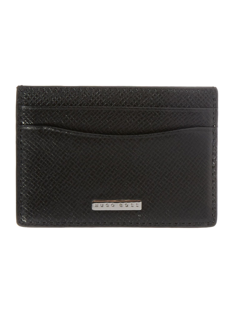 Hugo Boss Signature Card Case Holder- Black