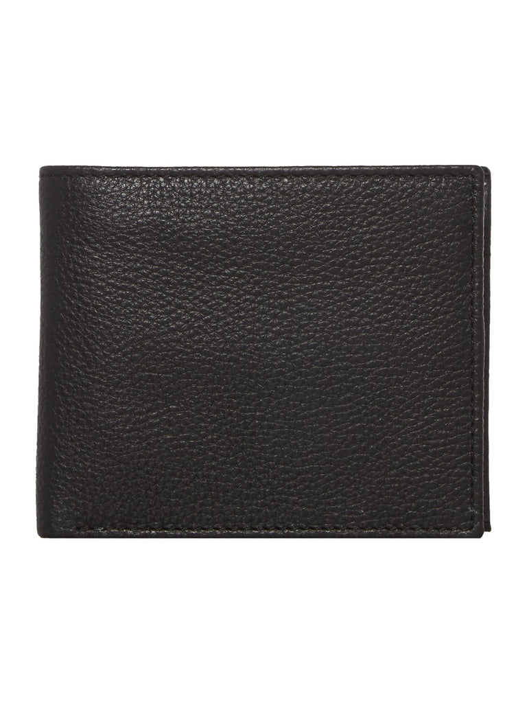 Howick Bold Grain Leather Wallet With Coin Pocket- Black