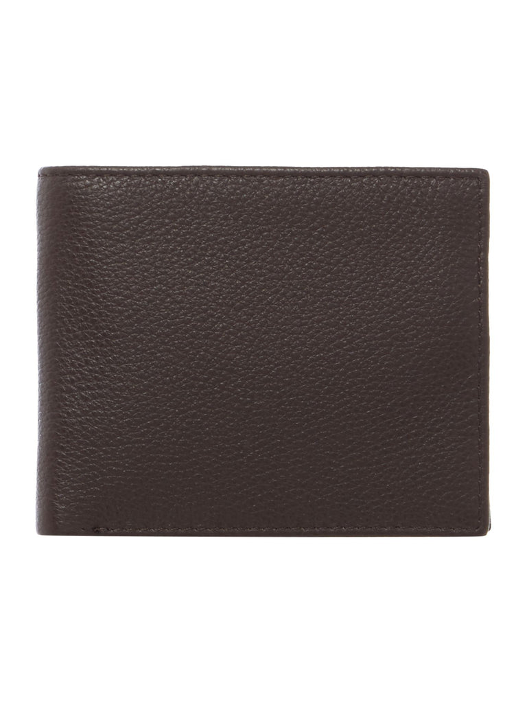 Howick Bold Grain Leather Wallet With Coin Pocket- Brown