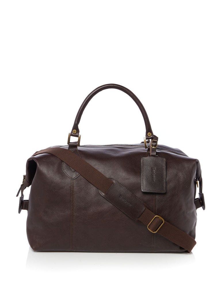Barbour Leather Travel Explorer- Dark Brown