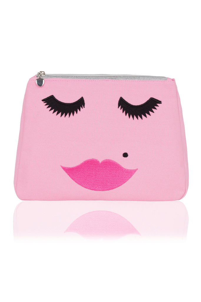 Emma Lomax Face Washbag- Pink