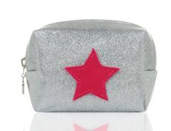 Emma Lomax Sparkly Silver Make Up Bag- Silver