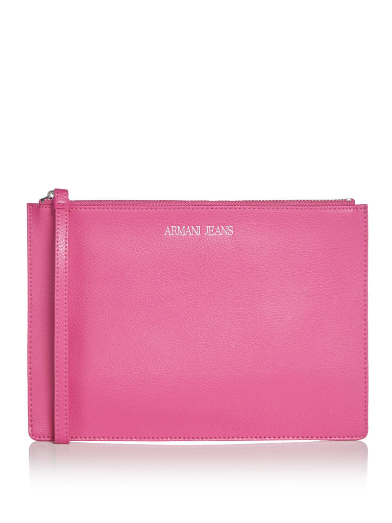 Armani Jeans Eco leather clutch bag- Pink