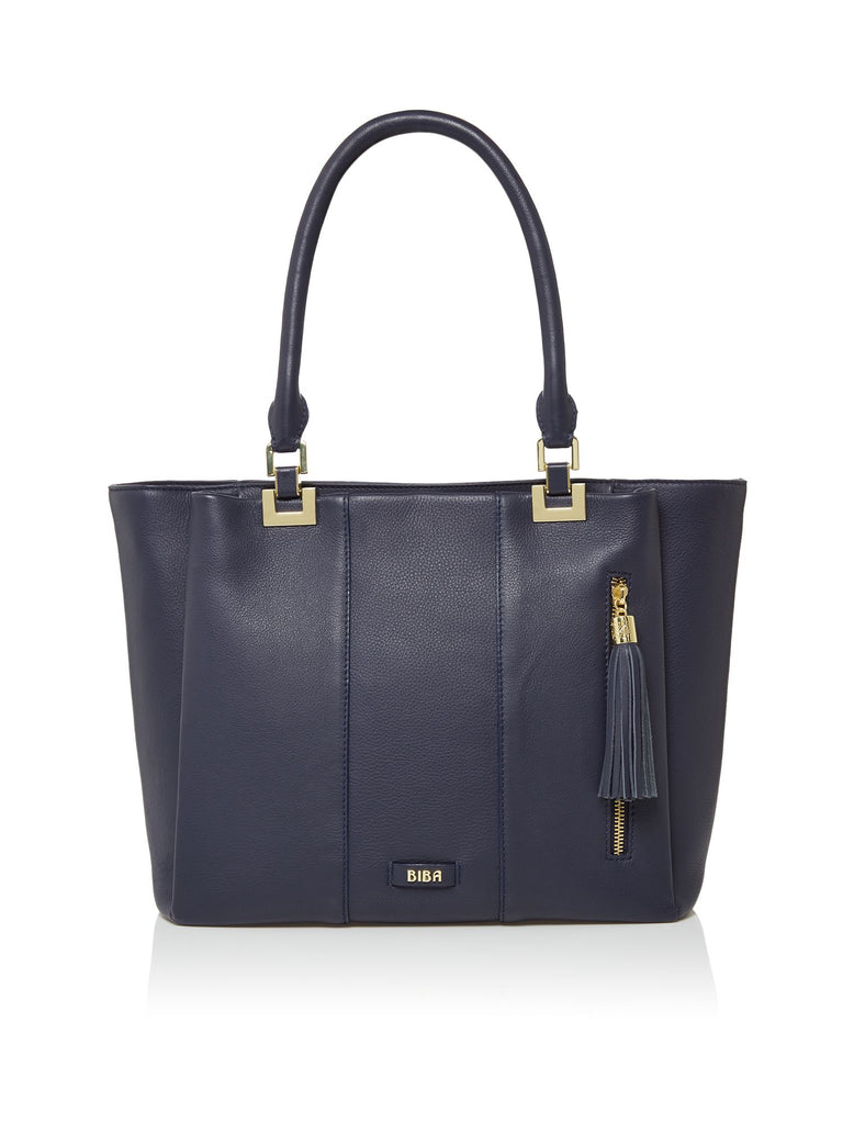 Biba Stella Triple Tote Bag- Blue