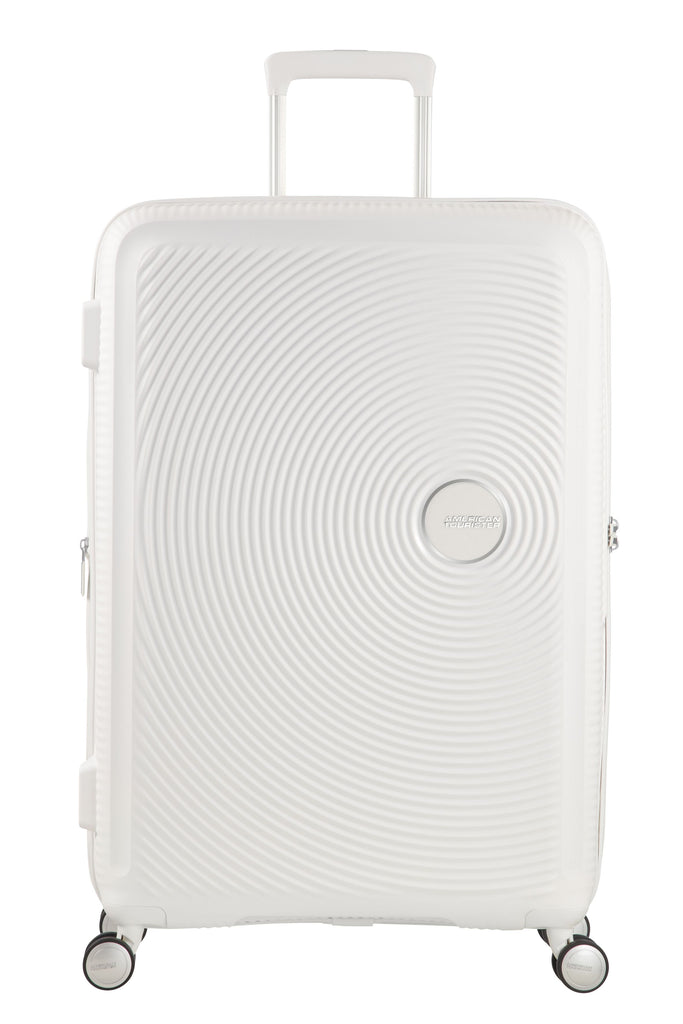 American Tourister Sound Box White Hard 4 Wheel Extra Large Case- White