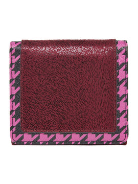 Therapy Kacey houndstooth purse- Red