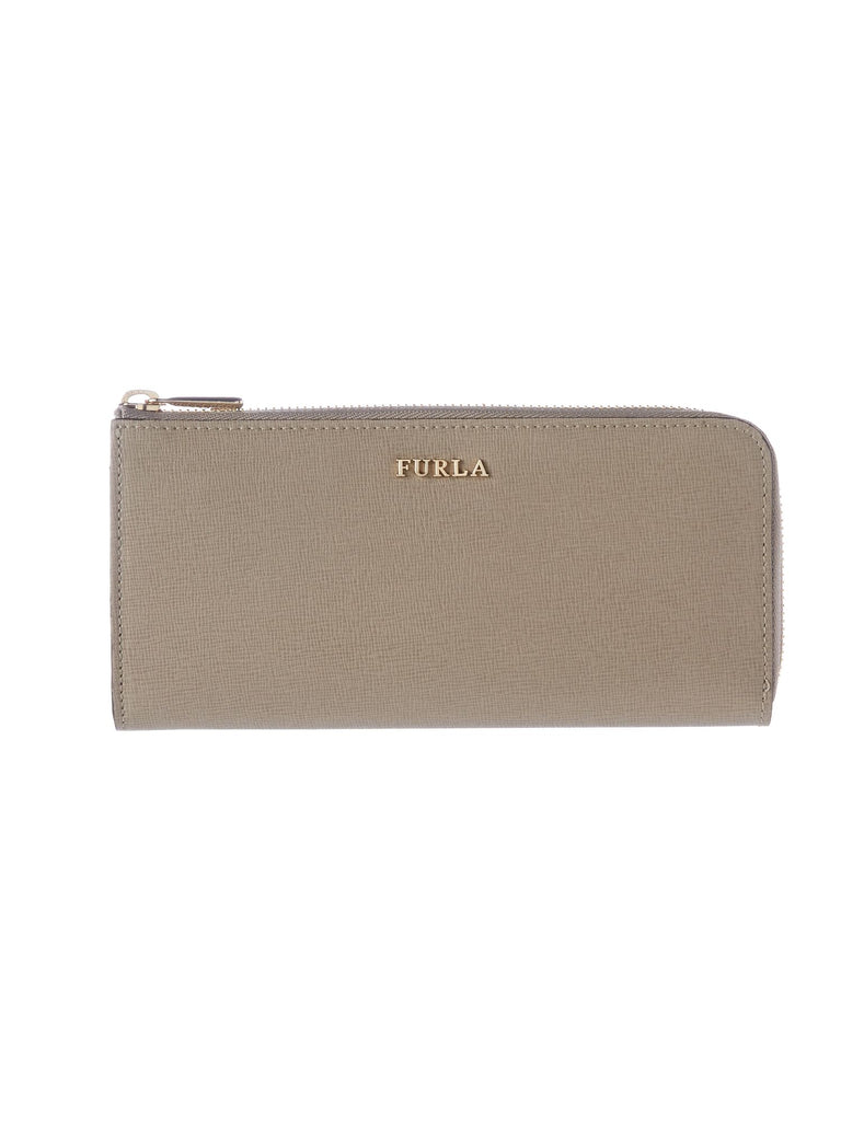 Furla Babylon large zip around purse- Taupe