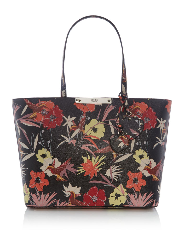 Guess Britta large floral tote bag- Black