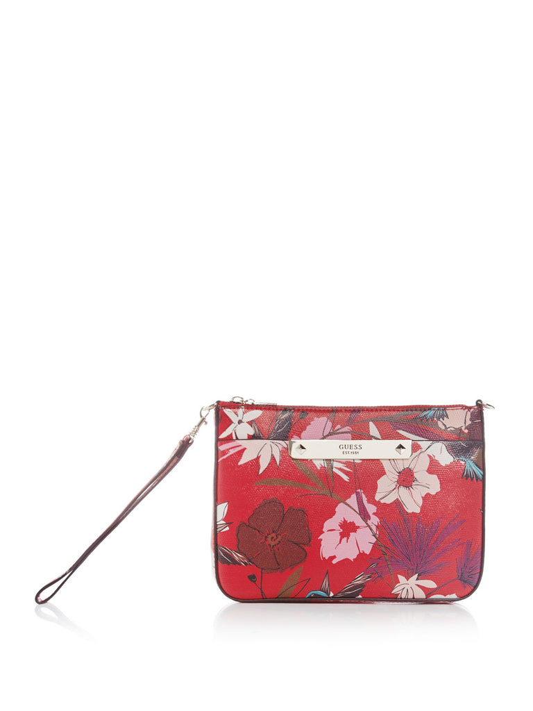 Guess Britta floral crossbody bag- Red