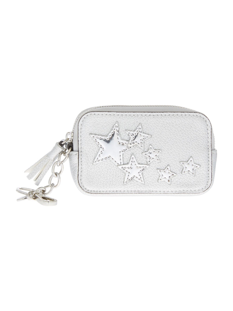 Guess Not coordin small zip around purse- Silver