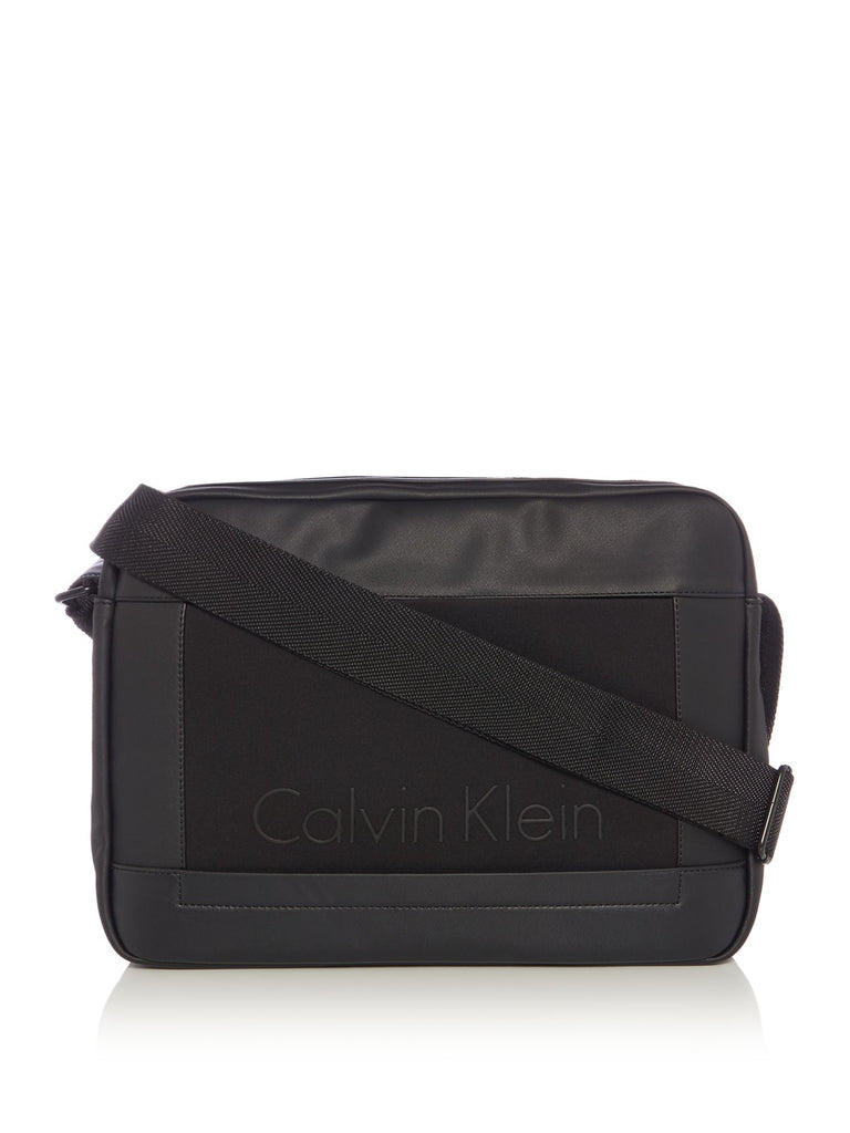Calvin Klein Caillou Messenger Bag- Black