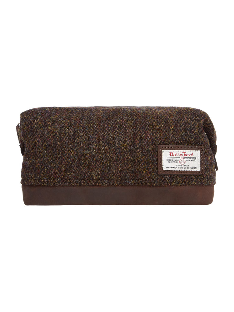 Howick Harris Tweed Washbag- Brown