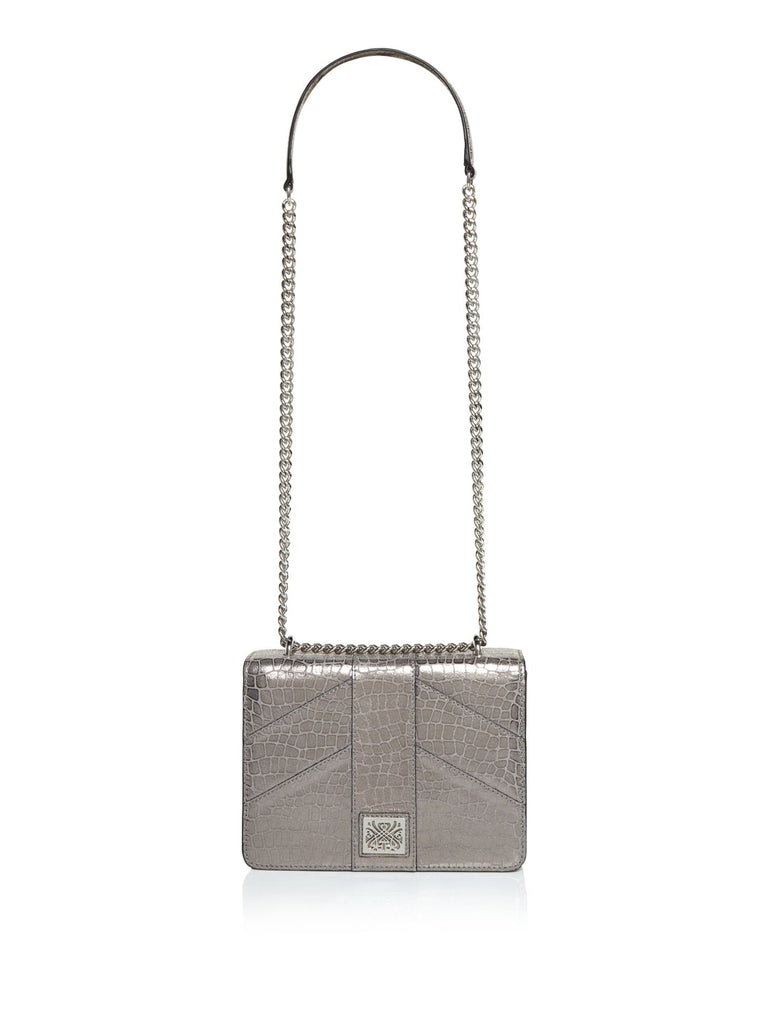 Biba Poppy Boxy Shoulder Bag- Pewter