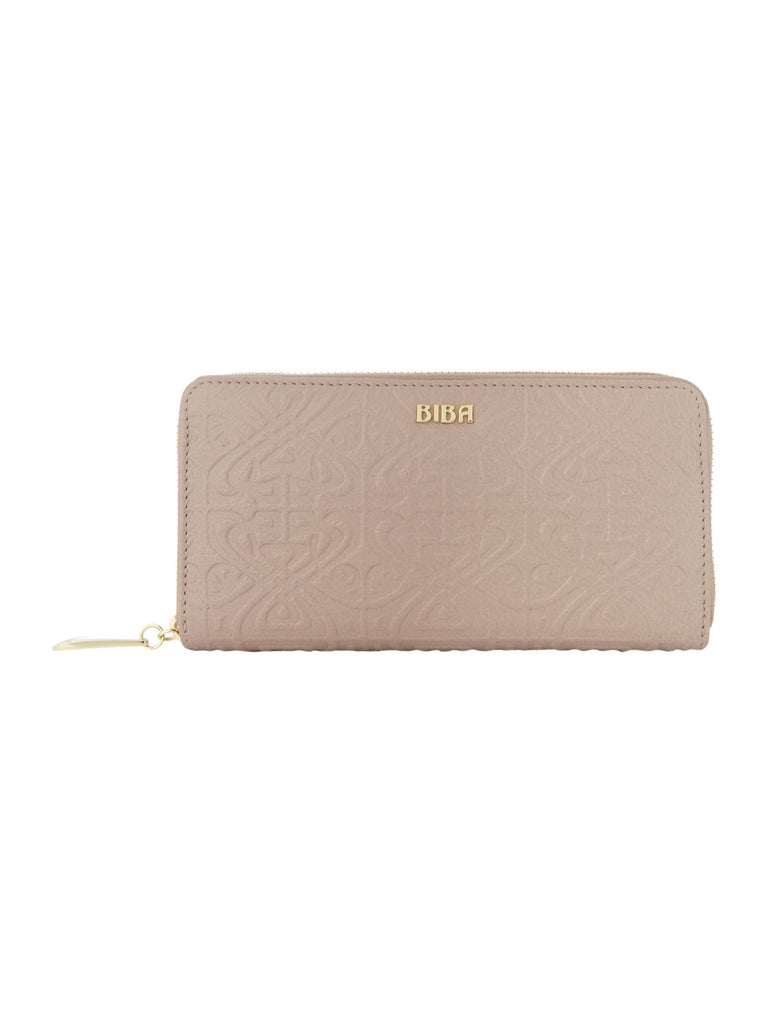 Biba Emboss Zip Around Purse- Cream