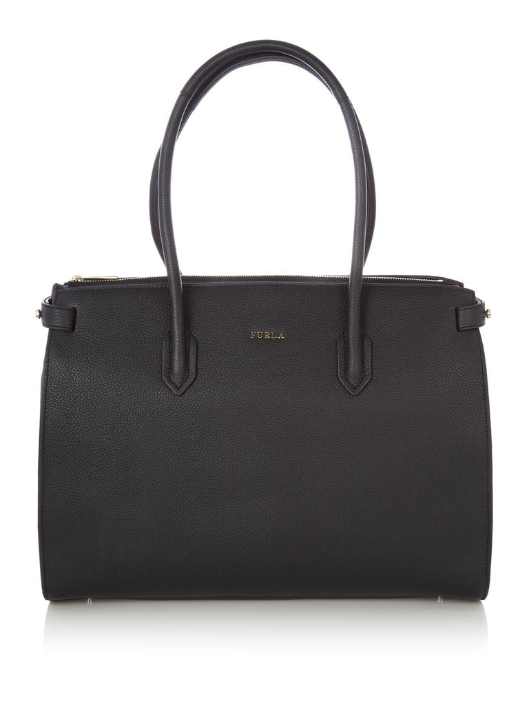 Furla Pin medium ew tote- Black