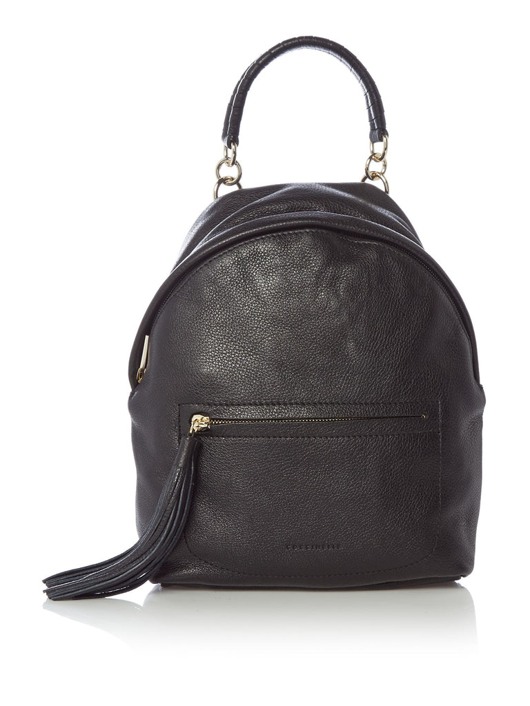 Coccinelle Leonie tassle backpack- Black