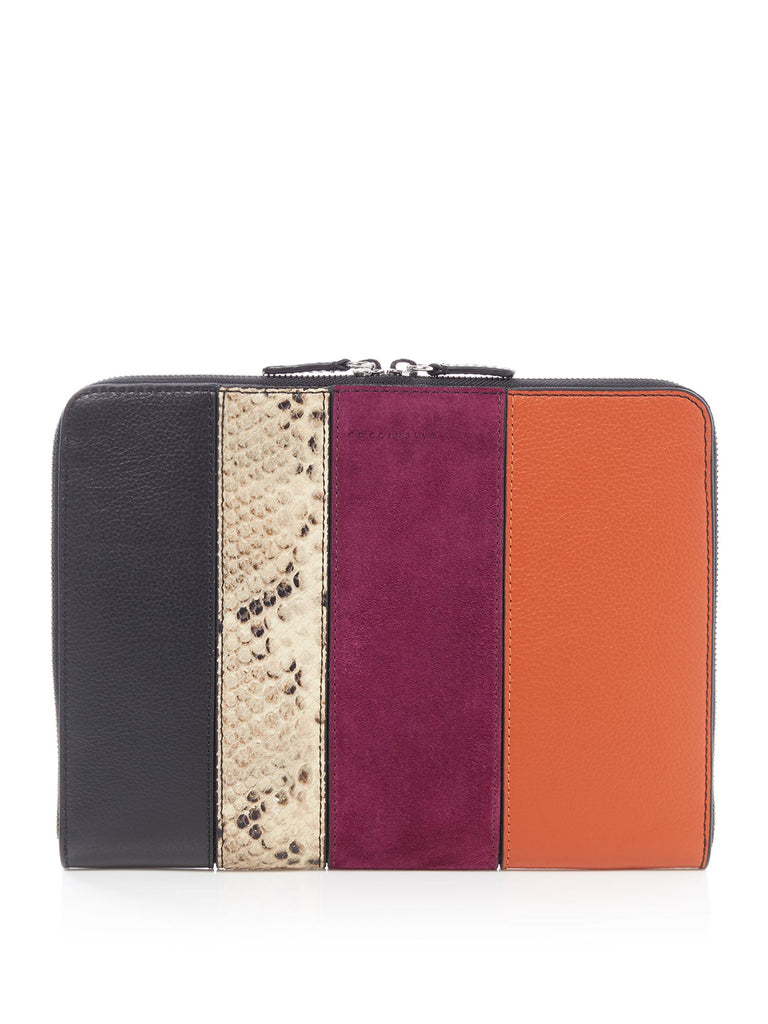 Coccinelle I-Tech stripe zip around pouch- Multi-Coloured