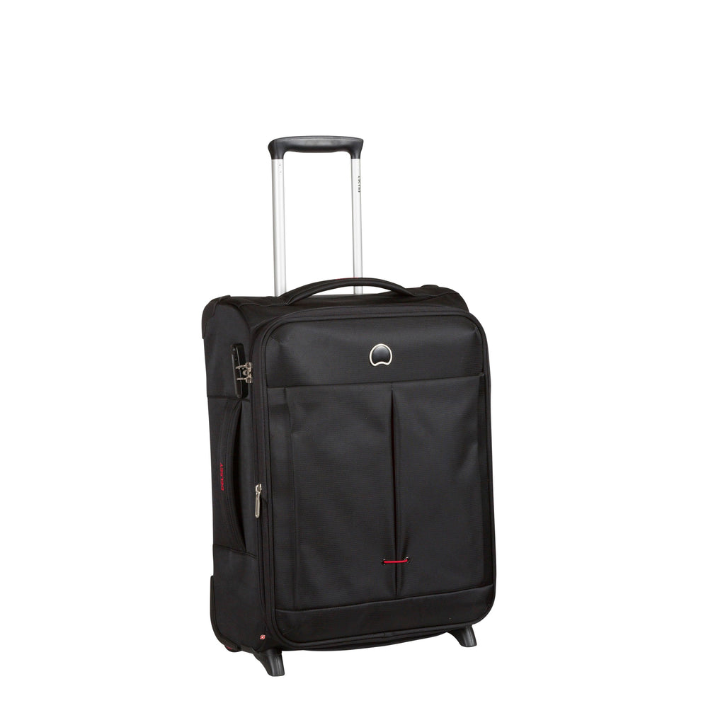 Delsey Air Adventure 55cm Cabin Suitcase Black- Black