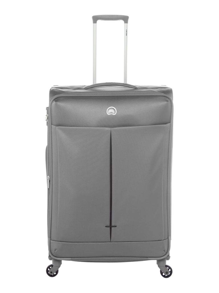 Delsey Air Adventure 78cm Large Silver-Grey Suitcase- Grey