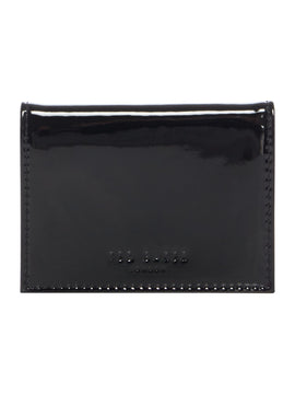 Ted Baker Lella patent card holder- Black