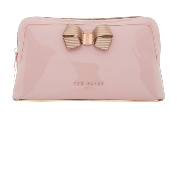 Ted Baker Libbert bow makeup bag- Pale Pink
