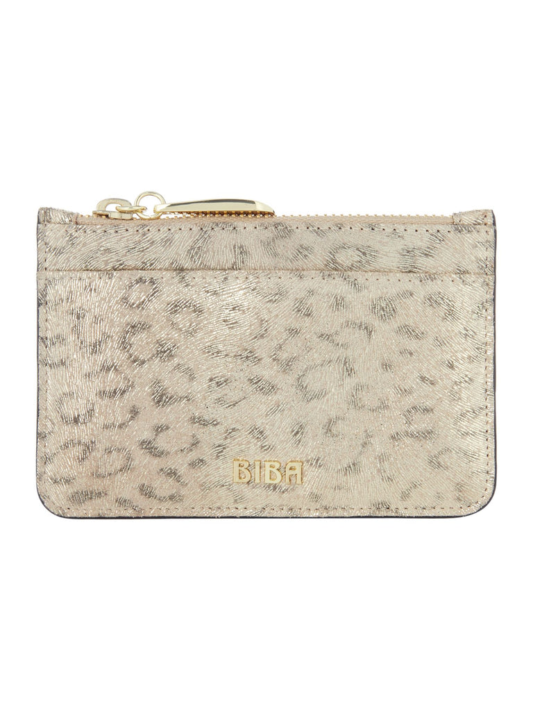 Biba Zip top coin purse- Gold